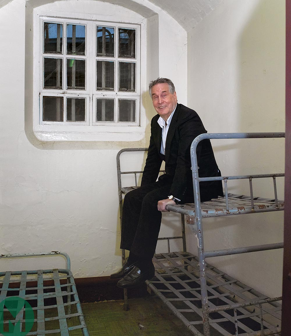 Robin Herd on prison bed from Motor Sport interview