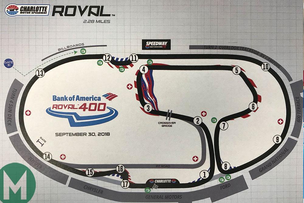 Charlotte Motor Speedway 'Roval' NASCAR track