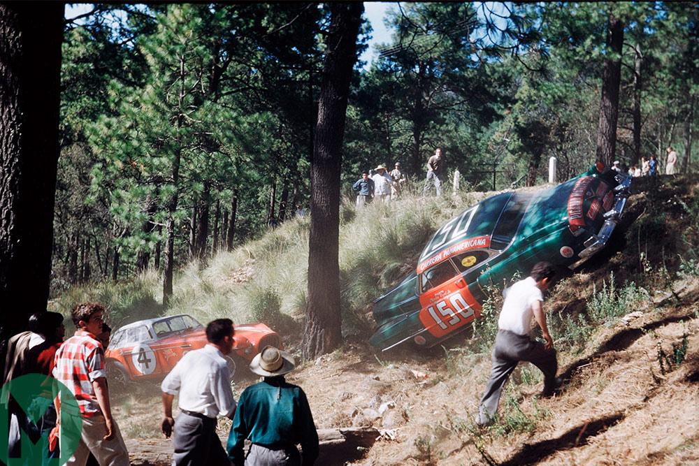 Phil Hill 1953 Carrera PanAmericana crash