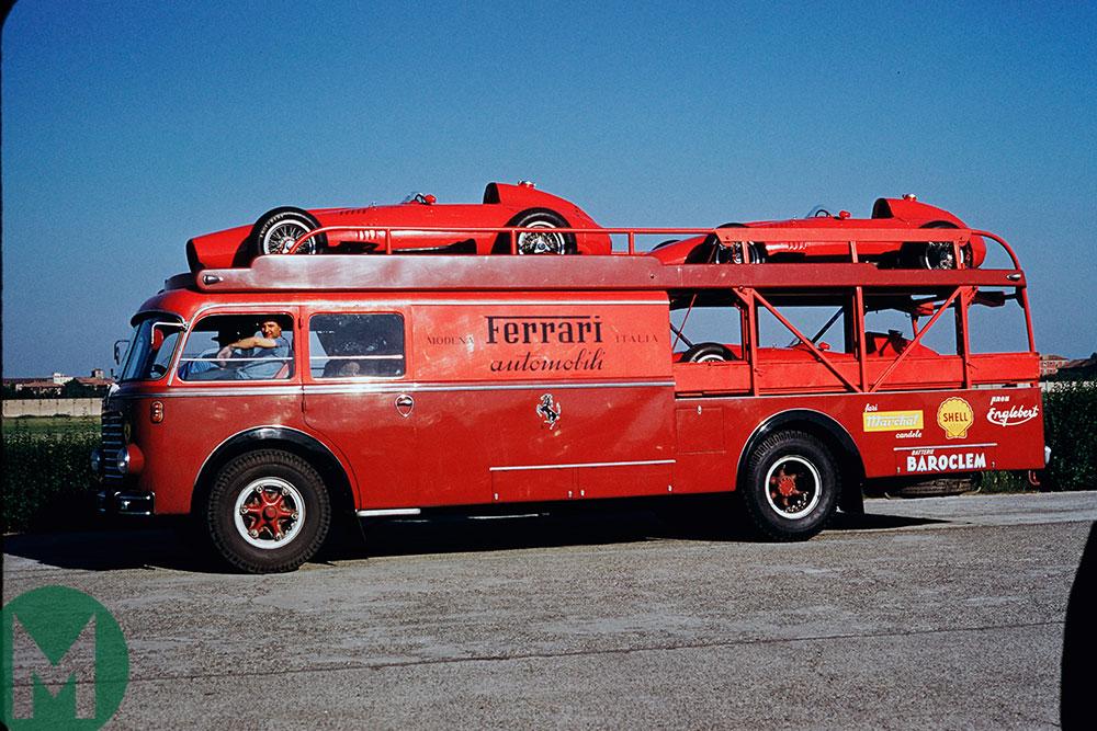 1957 Monzanopolis Ferrari transporter