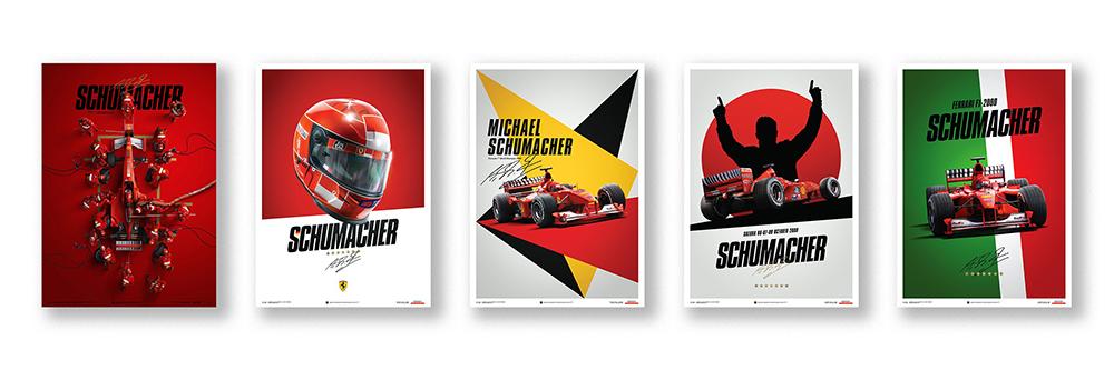 Michael Schumacher automobilist posters