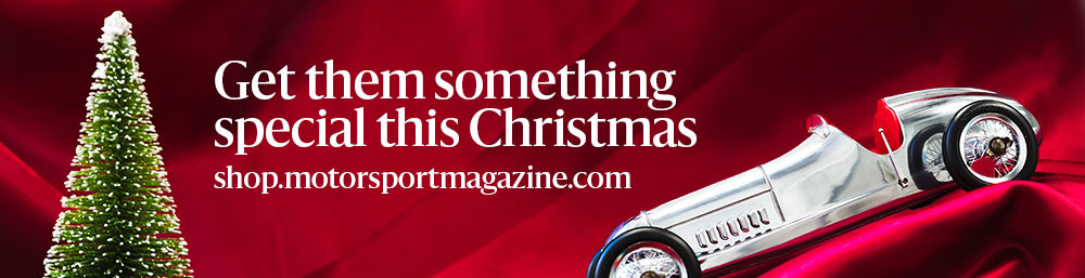 Motor sport magazine christmas gift banner