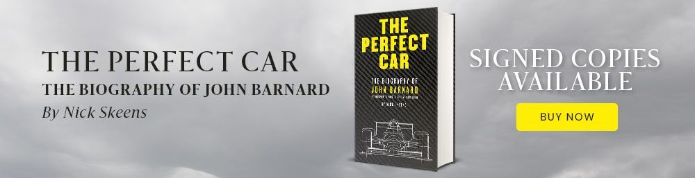 John Barnard The Perfect Car banner