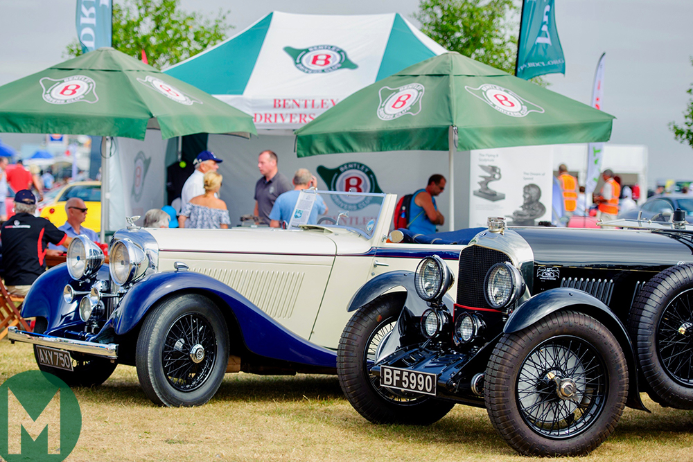 Bentleys on display at Silverstone Classic