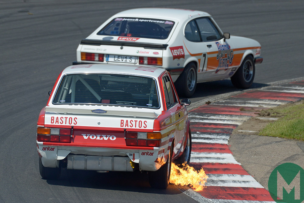 Volvo 240T Ford Capri May 2018 Masters Historic
