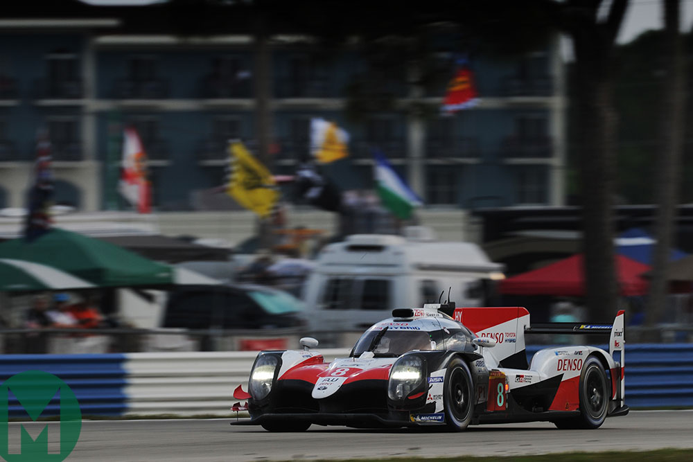 No8 Toyota on the way to 2018-19 Sebring 1000km victory