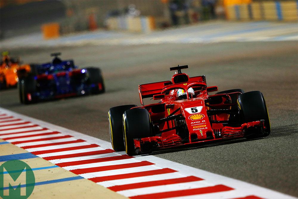 Bahrain F1 Toro Rosso and Ferrari