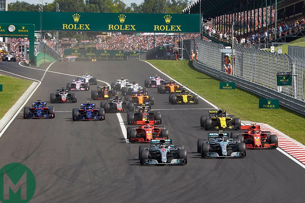 2018 F1 Hungarian Grand Prix start