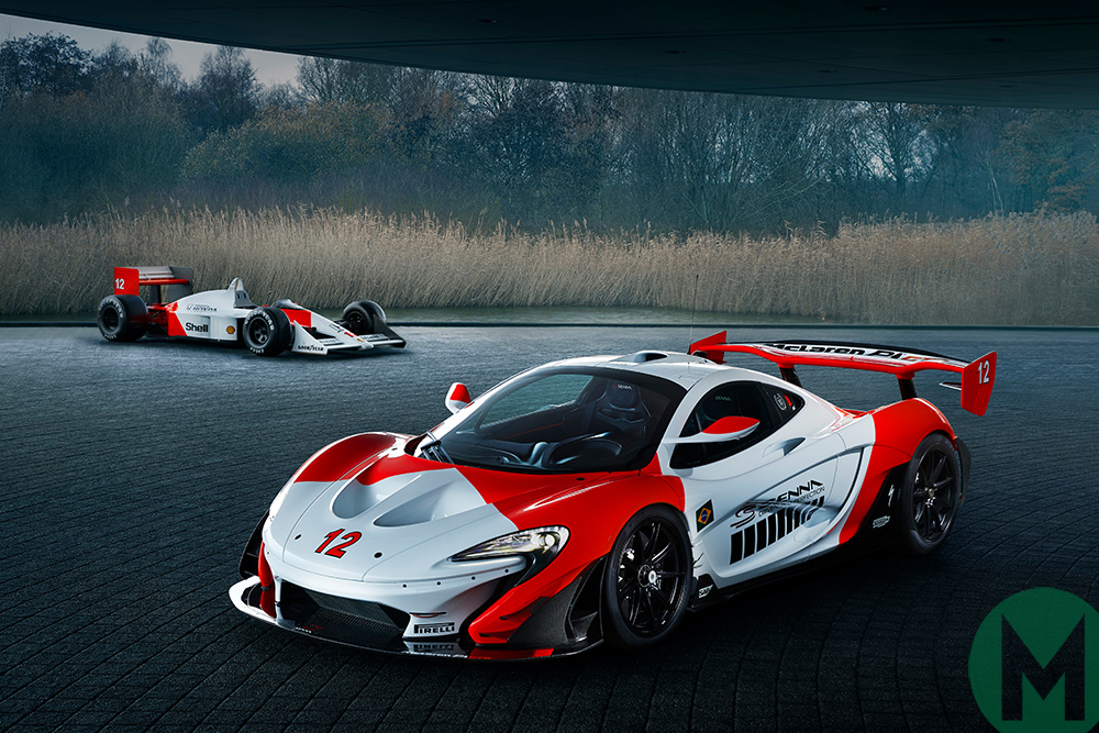 McLaren P1 GTR and McLaren MP4/4