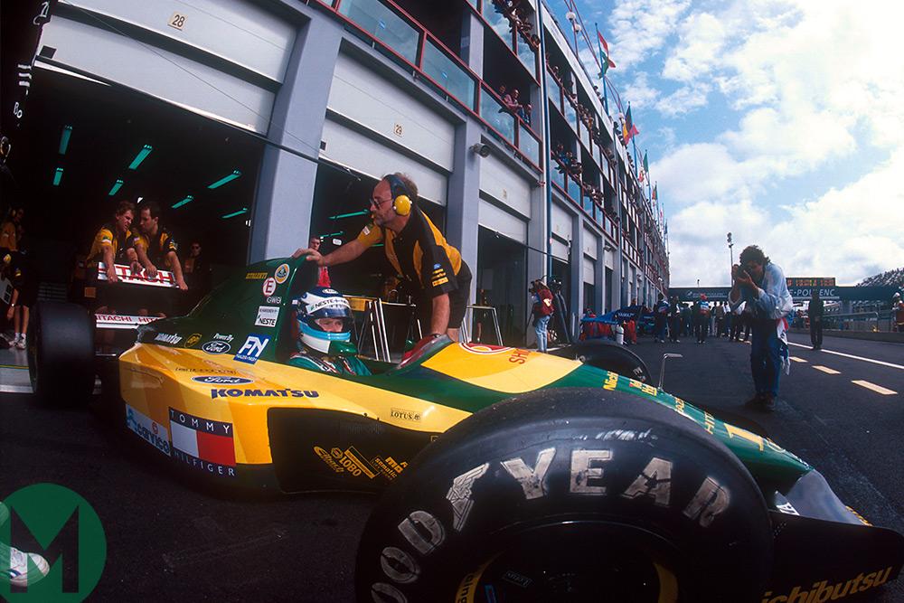 Mika Hakkinen while at Lotus
