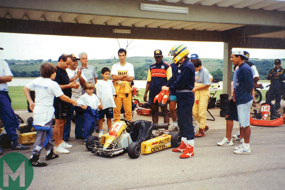 Ayrton Senna and friends 1994 kart