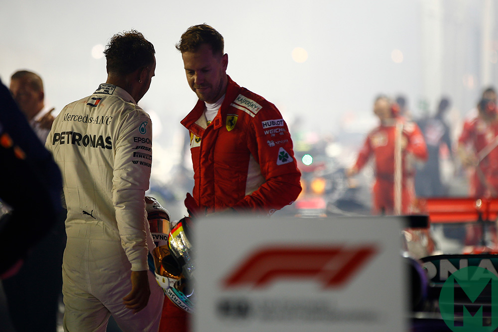 Vettel and Hamilton 2018 Singapore GP