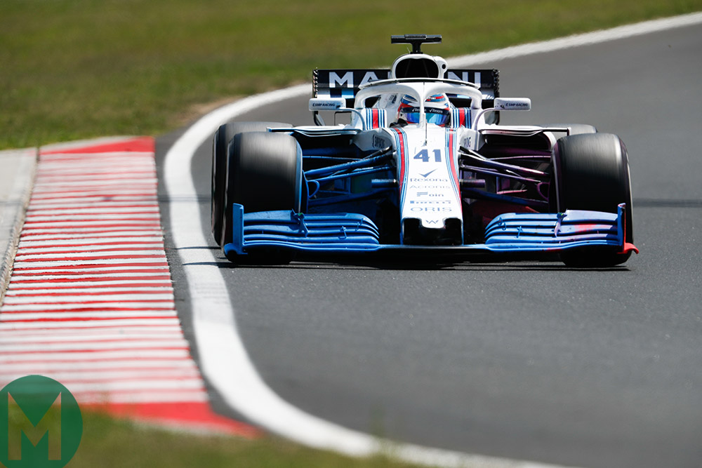Williams tests 2019 front wing in Hungary 2018